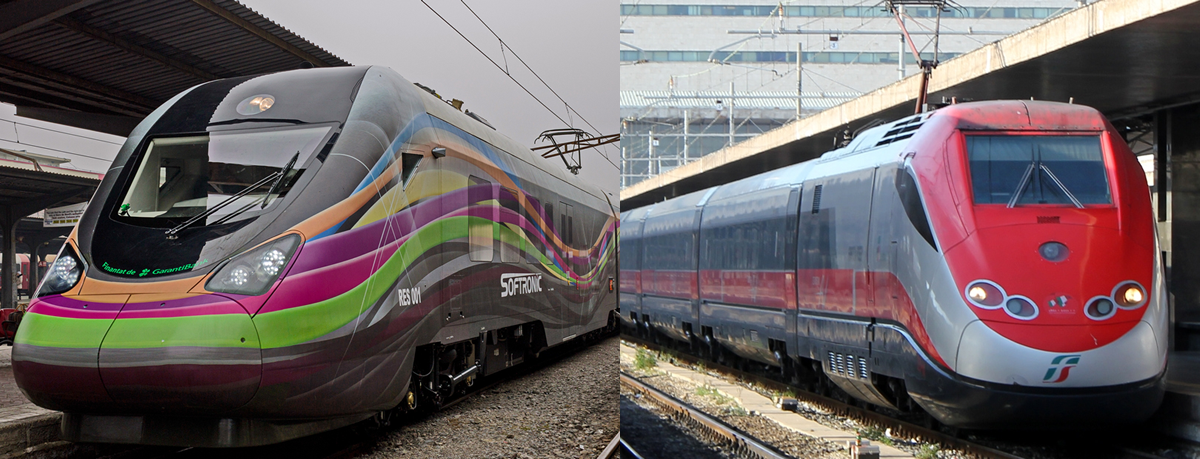 Trenuri conventionale si Trenuri de mare viteza