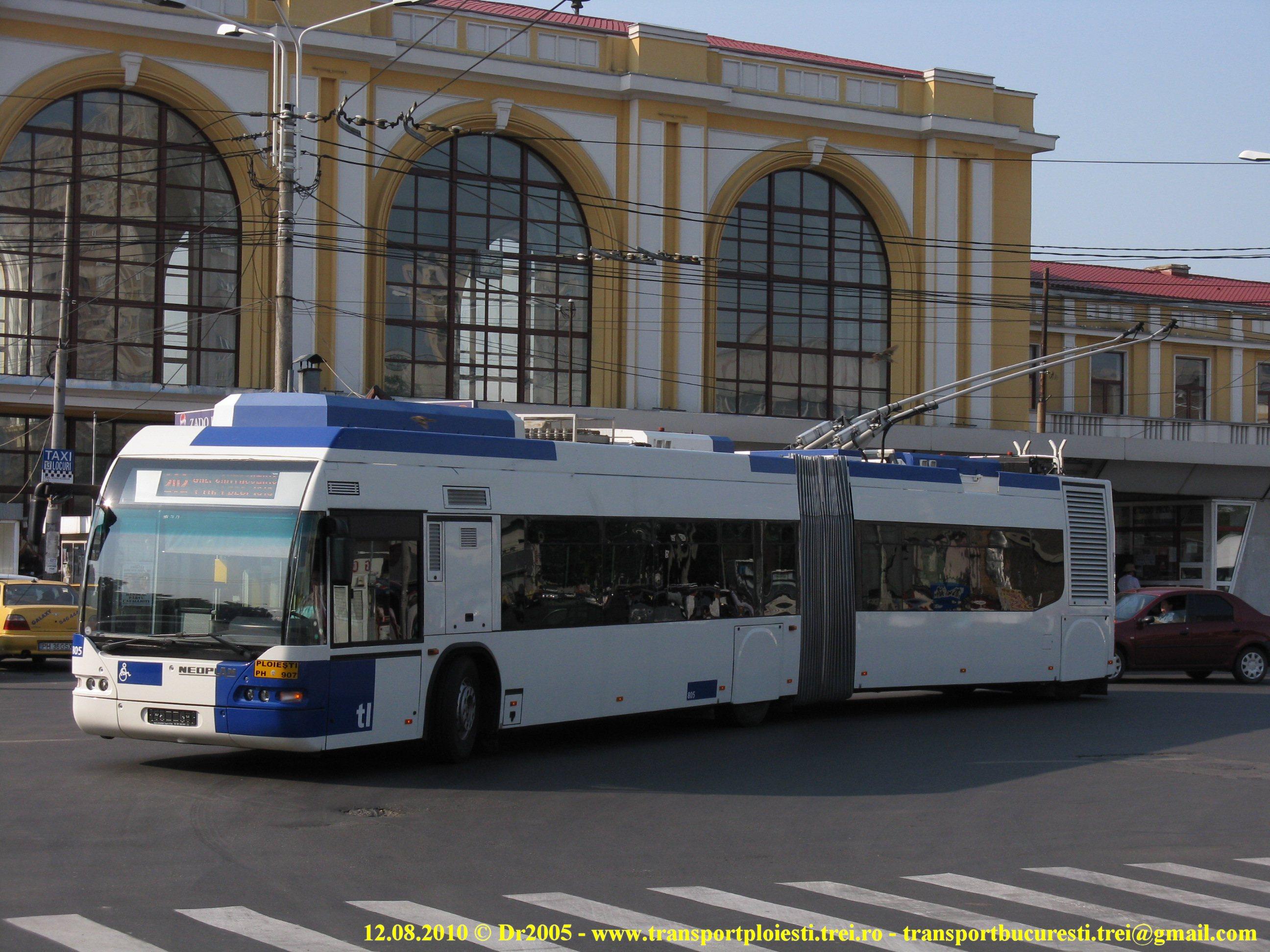 Troleibuz Neoplan N1621 în Ploiești