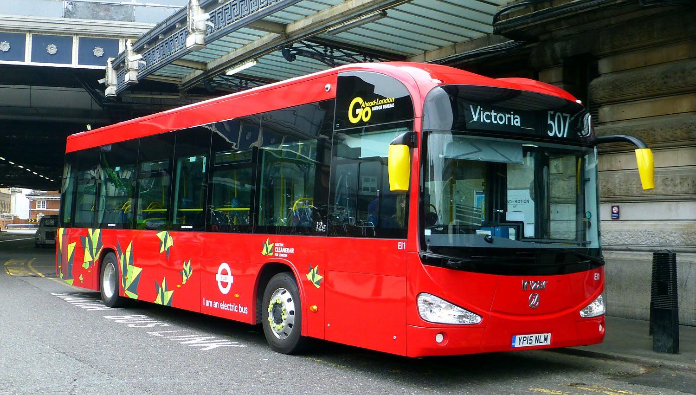 Autobuzi electric în Londra